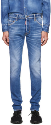 DSQUARED2 Blue Cool Guy Proper Wash Jeans