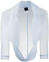 Pinko Sheer Cropped Jacket