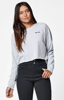 La Hearts Boy Bye Cropped Crew Neck Sweatshirt