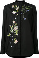 Alexander McQueen floral embroidered shirt - women - Cotton/Polyester/Viscose - 40