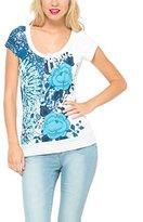 Desigual Women's Cherain Rep Short Sleeve T-Shirt,Size 18 (Manufacturer Size:XX-Large)