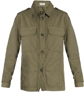 Raey Patch-pocket twill military jacket