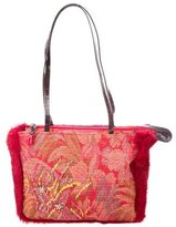 Etro Rabbit Fur-Trimmed Tote