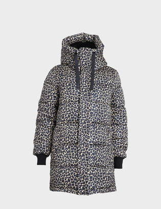 Dualist - Bianca Coat in Black / Leopard - polyester | Medium (M)