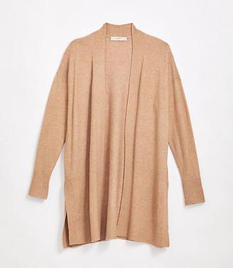 LOFT Petite Drop Shoulder Open Cardigan