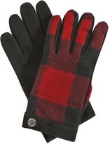 DSQUARED2 Check Wool Flannel & Nubuck Gloves