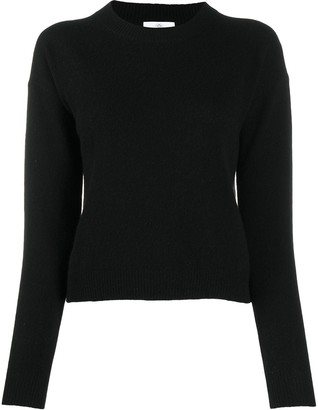 Allude Ribbed Round-Neck Jumper