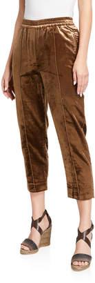 Brunello Cucinelli Cropped Velvet Trousers