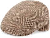Neiman Marcus Ivy Plaid Driver Hat, Camel/Multi