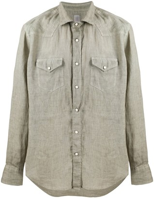Eleventy Texas crinkled effect shirt