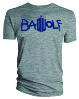 Doctor Who Classic Mens T-Shirt Bad Wolf Grey XXXXL