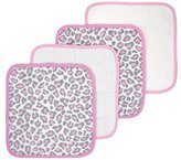 Just Born Welcome To The Circus Woven Washcloth, Leopard Pink, 4 Count by