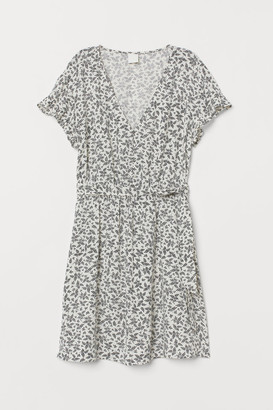 H&M Dress with Tie Belt - White