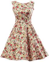 Ensnovo 50s Vintage Style Rockabilly Swing Picnic Evening Party Cocktail Dress M