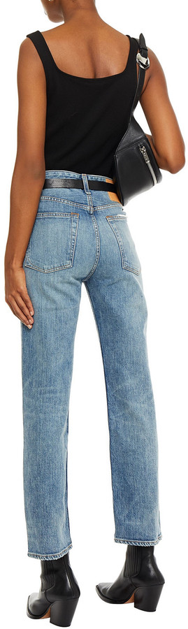 Thumbnail for your product : Rag & Bone Distressed Faded High-rise Straight-leg Jeans