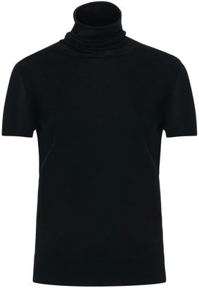 Nemozena Black Short Sleeve Turtle Neck Sweater