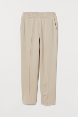 H&M Crease-front Joggers - Beige