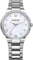 Swarovski Women's Swiss City Crystal Accent Stainless Steel Bracelet Watch 38mm