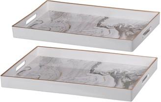 A&B Home Effra 2-Piece Rectangular Tray Set