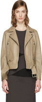 Acne Studios Beige Leather Mock Jacket