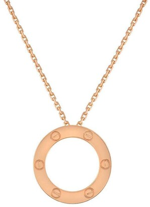 Cartier pre-owned 18kt rose gold Love circle pendant necklace