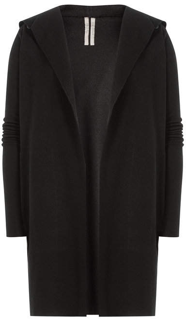 Rick Owens Hooded Cashmere Cardigan