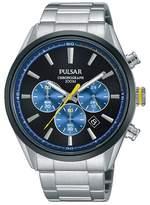 Pulsar Blue Chronograph Bracelet Watch Pt3727x1