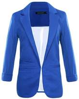 Legou Women 3/4 Sleeve Lapel Collar Slim Short Blazer S