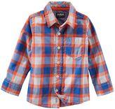 Osh Kosh Toddler Boy Plaid Poplin Button-Down Shirt