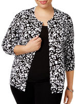 Karen Scott Plus Floral Printed Cardigan