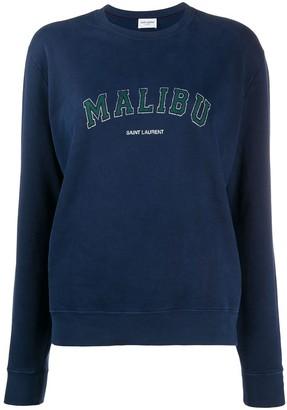 Saint Laurent Malibu vintage print sweatshirt
