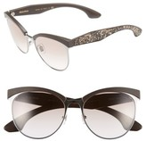 Miu Miu Women's 56Mm Pave Cat Eye Sunglasses - Beige Mix