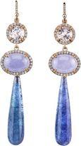 Irene Neuwirth Diamond Collection Kunzite, Lavender Jade, Diamond & Tanzanite Drop Earrings