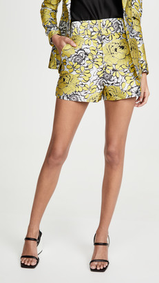 Alice + Olivia Cady High Waist Clean WB Shorts