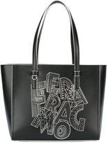 Salvatore Ferragamo printed tote bag - women - Leather - One Size