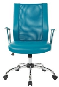 Office Star Bridgeway Office Mesh Chair with Chrome Base