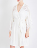 Eberjey Marry Me jersey and stretch-lace robe