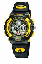 PASNEW Boys Girls Waterproof Sport Digital Watch Dual Time Display - Yellow