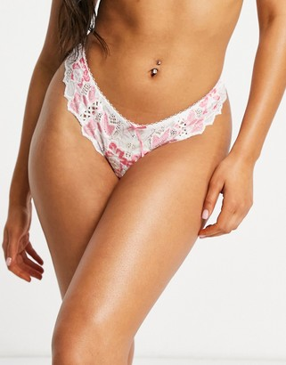 Lepel fiore thong in ivory and lipstick