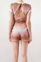 MSGM Short Sleeve Backless Romper