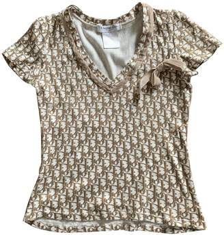Christian Dior Brown Cotton Top for Women Vintage