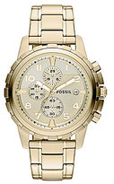 Fossil Dean Goldtone Stainless Steel Chronograph Watch