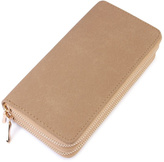 Riah Fashion Beige Faux Suede Wallet