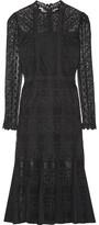 Temperley London Desdemona Paneled Guipure Lace Midi Dress