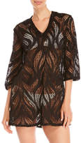 Jordan Taylor Three-Quarter Sleeve Mesh Tunic Cover-Up