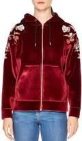 Sandro Ginger Embellished Velvet Hoodie