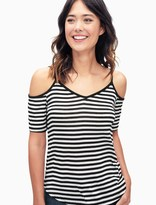Splendid Lux Stripe Cold Shoulder Top
