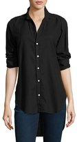 Frank And Eileen Grayson Brushed Italian Twill Shirt, Black