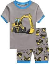 Cczmfes Boys Short Pjms Set Children Crtoon PJs Kids Sleepwer 2 Piece