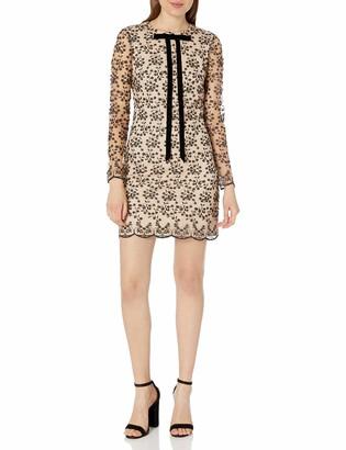 Betsey Johnson Women's Velvet Burnout Long Sleeve Dress